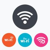 Wifi Wireless Network icons. Wi-fi zone locked.