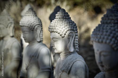 Fotografiet Meditating Buddha Statues