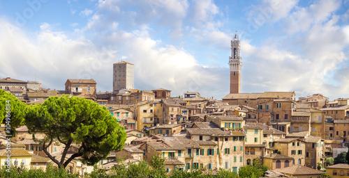 Fotobehang Vestingwerk Beautiful view of the historic city of Siena, Italy