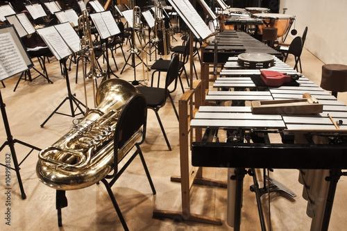 fototapeta na ścianę Instruments Symphony Orchestra onstage
