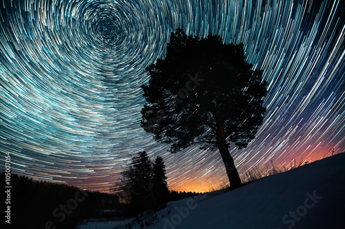 Poster Star trails