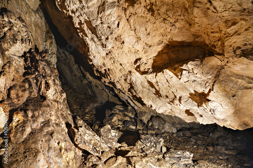Poster Geological texture inside a cave