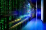 series mainframe in a futuristic representation of a matrix code