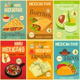 Mexican Food Mini Posters Set - 105046063