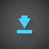 Flat Download web app icon on dark background