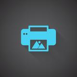 Flat Photo Printing web app icon on dark background
