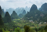 Karst mountains around Yangshuo