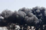 black smoke after explosion