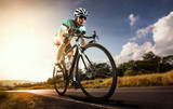 Fototapety Asian men are cycling road bike in the morning