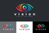 Fototapety Eye logo vector - rainbow colorful tone is mean vision creative idea and design