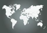 Fototapety Mappemonde Vectorielle, avec découpage des pays