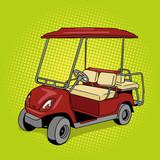 Fototapety Golf cart pop art style vector illustration