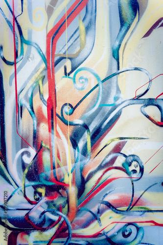 Foto op Plexiglas Graffiti Graffiti abstrait