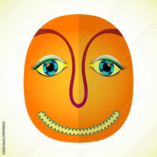 In de dag Indiërs mardi gras face