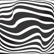 optical art opart striped wavy background abstract waves black and white