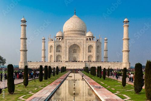 Foto Murales UNESCO World Heritage Site of Taj Mahal, Agra, Rajasthan, India