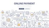 Online Payment Doodle Concept