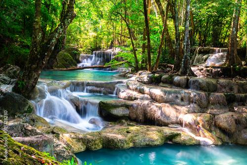 Beautiful waterfall in the deep forest © calcassa