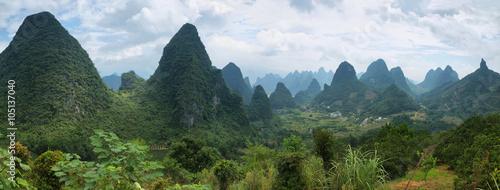 Keuken foto achterwand Guilin Karst mountains around Yangshuo