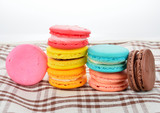 close up of colorful macarons - 105153021