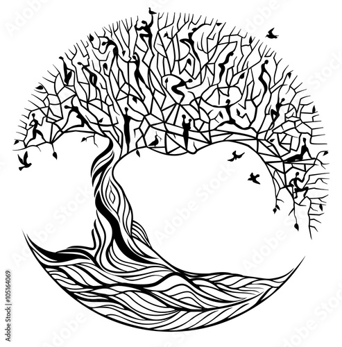 Naklejka Tree of life on a white background
