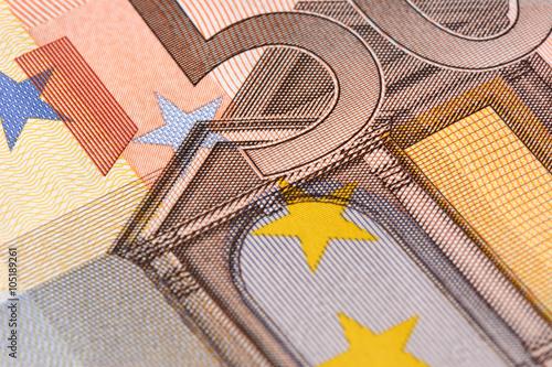 Poster 50 Euro Nahaufnahme