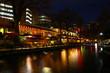 Night view of the San Antonio Riverwalk