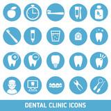 Fototapety Set of dental clinic icons.