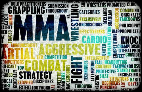 fototapeta na ścianę Mixed Martial Arts or MMA