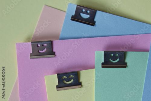 Poster Lustige Papierklammern