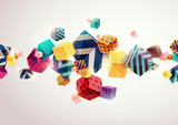 Fototapety Abstract colorful background with geometric elements