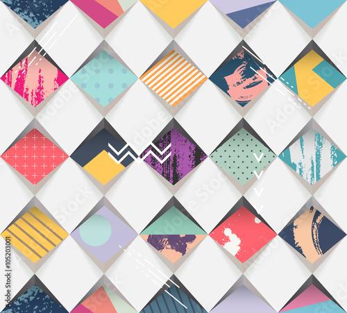Tapeta Abstract seamless geometric background