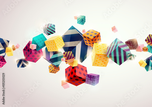 Abstract colorful background with geometric elements - 105203029