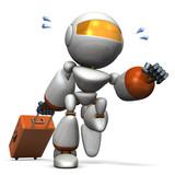旅行するキュートなロボット