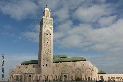 the Hassan II mosque in Casablanca Poster