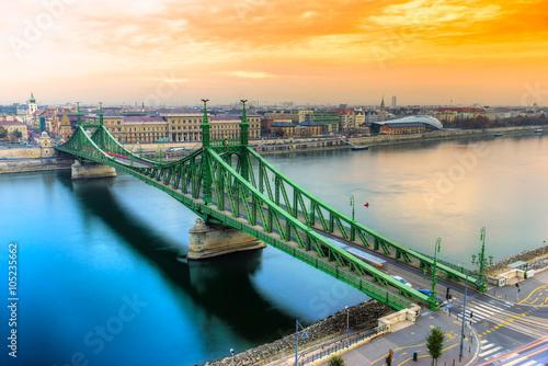 Póster Budapest, Puente de la Libertad, Hungría