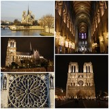 Fototapeta Paris - Notre Dame Cathedral, Paris, France - photo collage © emar