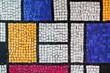 Stone tiling mosaic. Background photo texture