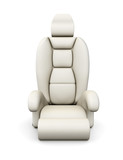 White car seat isolated on white background. 3d rendering.