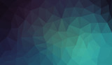 Fototapety Blue Black Gradient abstract polygon background