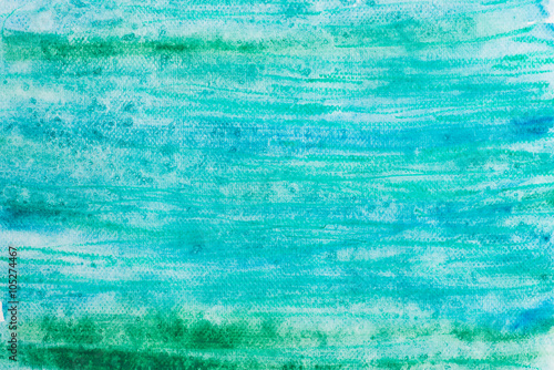 Fototapeta watercolor blue painted background