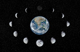 Fototapety Earth and Moon phases