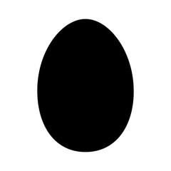 Chicken egg or duck egg flat icon for apps and websites