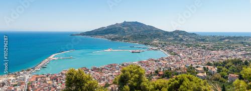 Aluminium Panoramic view of Zakynthos city