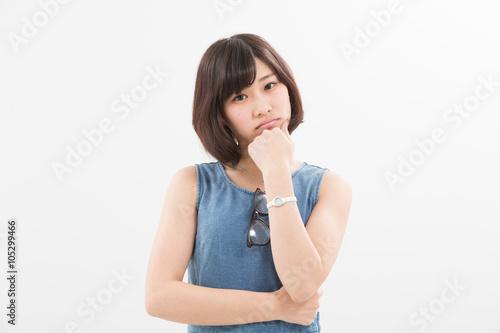 Poster 考える女性