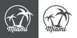 Icono plano Miami #1