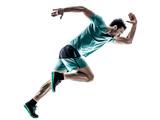 Fototapety man runner jogger running  isolated