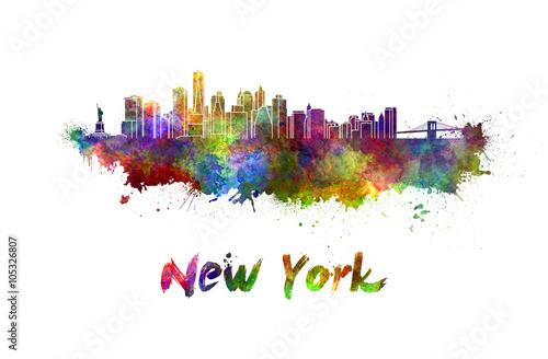 Zdjęcia na płótnie, fototapety, obrazy : New York skyline in watercolor