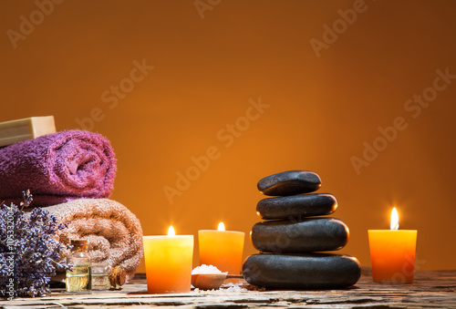 Spa still life with aromatic candles © Lukas Gojda