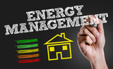 Hand writing the text: Energy Management